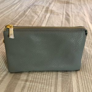 NWOT Light Blue Clutch w/ removable strap
